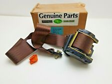 Genuine Range Rover Classic Rear Seatbelt - Right Hand Brown RTC6122BR OBSOLETE