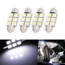 4PCS Cool White 36mm 6SMD LED bulbs - Interior Dome 3425 6413 6418 DE3425