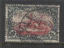 1906 German colonies SOUTH WEST AFRICA  5 Mark Yacht used,  LÜDERITZBUCHT € 370