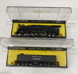 Bachmann N Scale 4786 Northern 4-8-4 & 52' Tender A.T.& S F Santa Fe 3780