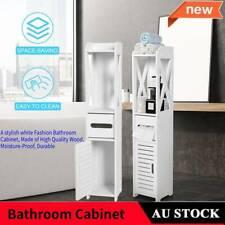 80cm Tall Bathroom Cabinet Furniture Toilet Storage Laundry Cupboard