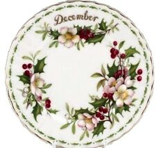 ENGLAND DECEMBER, JULY, OCTOBER, APRIL FLOWER OF MONTH ROYAL ALBERT LUNCH PLATES