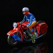 1 Pc Vintage Wind Up Motorcycle Rider Clockwork Tin Toy Collectible Gift New