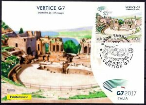 Italy 2017 Ancient Greek Theatre Ruins Heritage Building Architecture Maxicard