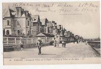 Parame Groupe de Villas sur la Digue Vintage LL Postcard France 280a