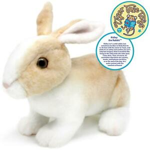 Ridley the Rabbit   11 Inch Realistic Stuffed Animal Plush Bunny