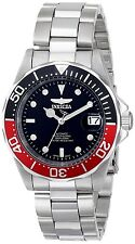 Invicta 9403 Men's Pro Diver Black & Red Bezel Automatic Stainless Steel Watch