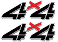 1998 - 2007 Vinylmark 4x4 Bedside Decals for Chevy GMC 4WD 1500 2500 BLACKOUT