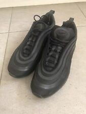 Mens Nike Air Max 97 Ultra 17 Triple Black Trainers Size 9 Code 918356-002