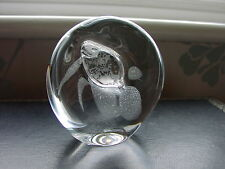 "Mats Jonasson Crystal Art Glass Studio 88 ""peces"" Escultura Pisapapeles"