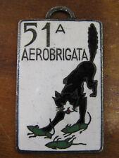 MEDAGLIA SMALTATA - 51° AEROBRIGATA -  AERONAUTICA MILITARE - LORIOLI