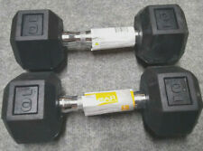 CAP 10 lb Dumbbell Set (20 lbs total) Hex Rubber Coated Weights FREE SHIPPING
