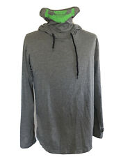 Men's Gym Thin Hoodie Hooded With Face Mask Skull Jumper Sweatshirt Size XXL