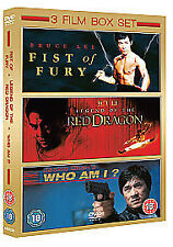 Fist of Fury / Red Dragon / Who Am I uk dvd NEW SEALED SPEEDYPOST BRUCE LEE CHAN