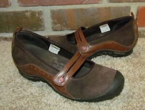 Merrell Plaza Bandeau Womens Suede Mary Jane Slip On Shoes Flats Size 7.5 Brown