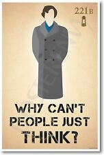 Sherlock Holmes - Why Can't People Just Think - New Poster