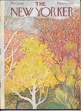 New Yorker magazine October 22 1973 Ilonka Karasz Fall Autumn  trees cover