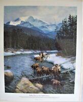 Tom Lovell Print Walking Coyote and Buffalo Orphans LE 357/650 COA Signed