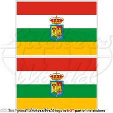 "LA RIOJA Flag SPAIN Comunidad Autónoma Spanish 75mm(3"") Vinyl Stickers Decals x2"