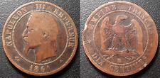 Napoléon III - 10 centimes tête laurée 1861 BB, Strasbourg - F.134/3