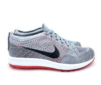 Nike Flyknit Racer G Golf Shoes Wolf Grey Black Red 909756-002 Men's Size 11