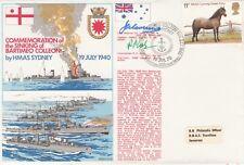 HMAS Sydney sinks Italian Bartimeo Colleoni Signed P F Cole  & Sir John Collins