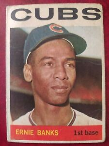 Ernie Banks 1964 Topps Venezuela #55  Rare Venezuelan card *Set Break