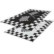 Faulkner Patio Mat Summer Waves 8X16 Black  46258 Canadian Seller
