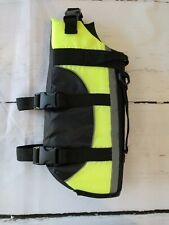 Dog Vest Boating lifejacket DOG lifevest neon green black