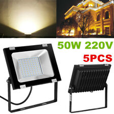 5X 50W LED Flood Light Security Outdoor Garden Landscape Yard Wall Spot Lamp HQ