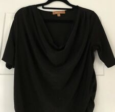 3a6e7a58dfb Ellen Tracy Black Cowl Neck Top With Gathered Sides. Size Medium