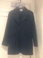 H & M Woman Collection wool mix black stripe jacket size 34
