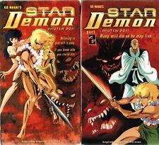 Set of 2 Go Nagai's Star Demon Shuten Doji Anime VHS Tapes Vol 1 & 2 New Dubbed