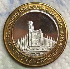 Binion's Horseshoe Casino Obsolete $10  .999 Silver Strike Token