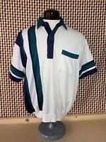 80s VTG Mens Classics By Palmland Short Sleeve Colorblock Polo Shirt Sz XL