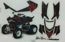 AMR Racing Graphics Decal Kit Sale For Arctic Cat DVX 400 All RELOADED RED