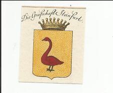 """Preussen v./Burgsteinfurt """"le comté de steinfurt"""", coloriertes kupferstichw"""