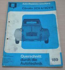 Citroen 2 CV 4 / 2 CV 6 425ccm 402ccm Motor Bremsen Reparaturanleitung B189