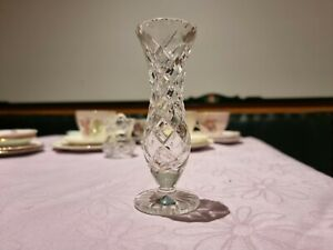 Small Thin Clear Glass Vase
