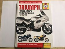 TRIUMPH TRIDENT DAYTONA TROPHY TRIPLE SPRINT THUNDERBIRD HAYNES MANUAL 1991-1999