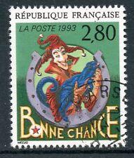 STAMP / TIMBRE FRANCE OBLITERE  N° 2843 LE PLAISIR D'ECRIRE / BONNE CHANCE