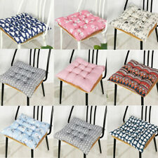 Square Chair Seat Pad Tie On Thick Cushions Dining Garden Kitchen Floor Pads