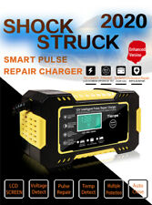 Automatic Car Battery Charger Repair Jump Starter Charger Power Bank 12V6A Lcd