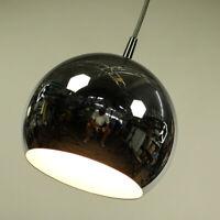 Chrom Kugel Pendel Leuchte Ø 22 cm Hänge Lampe Vintage Ball Pendant 60er 70er