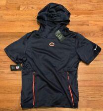 Nike Men's Chicago Bears Sideline Therma S/S Short Sleeve Hoodie NWT M Medium
