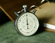 Mechanical Stopwatch SLAVA Early version Vintage USSR Pocket Stop Watch RARE
