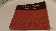 Galbraith & Paul Lighting + Textiles Savanna Persimmon Rayon Cotton Poly Sample