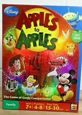 Mattel Apples to Apples Disney Edition Card game Family Mickey Mouse Complete F8