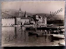TROGIR  CROATIE ANIMEE PORT       postcard