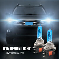 2 x H15 15/55W SUPER WHITE XENON UPGRADE HEADLIGHT BULBS ERROR FREE 12v DRL C